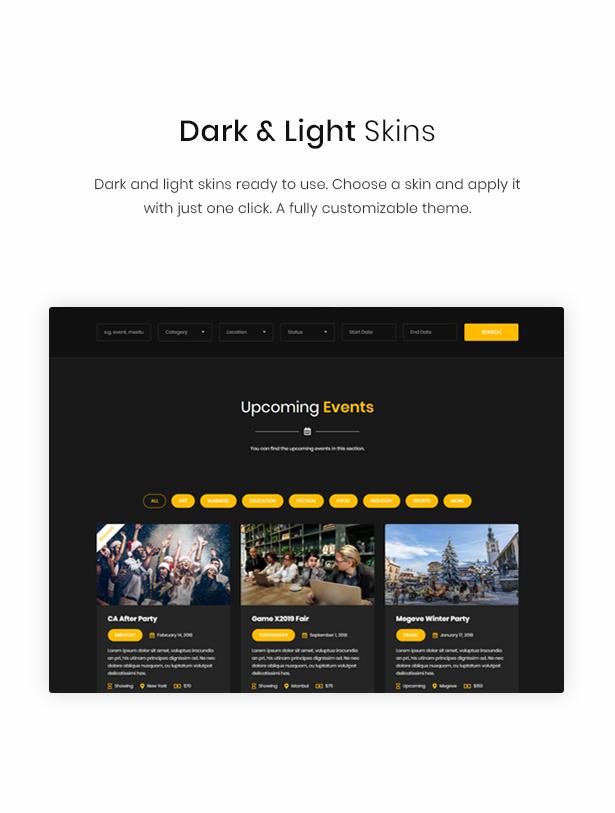 WordPress dark theme