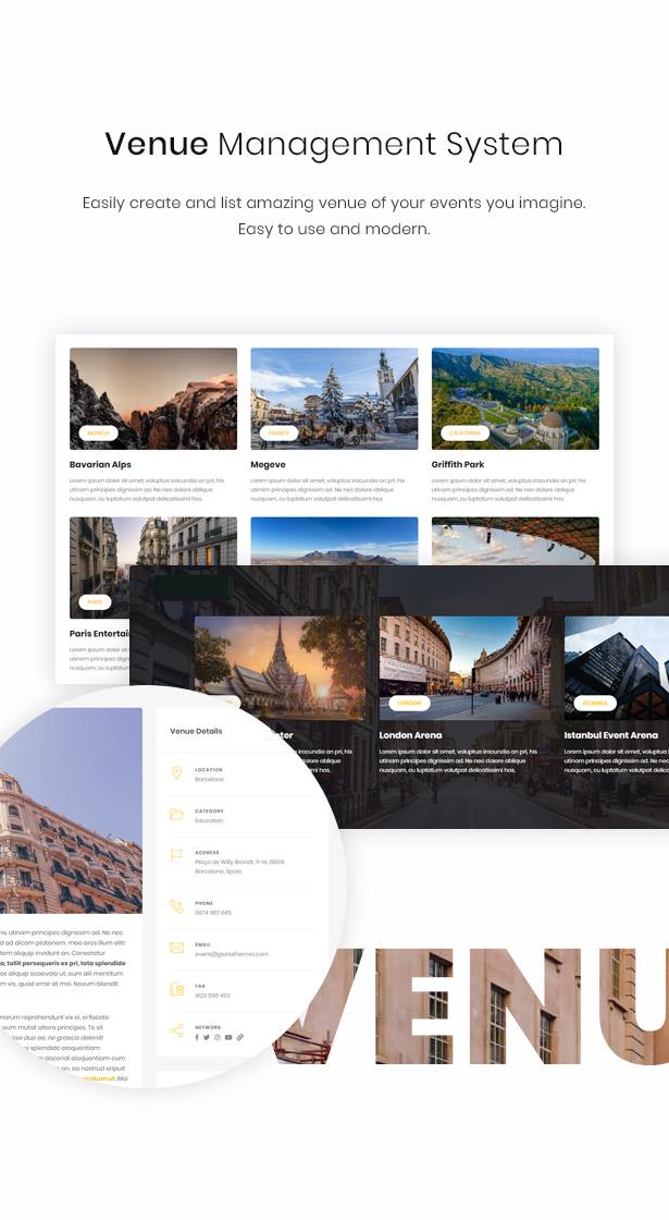 WordPress venue theme